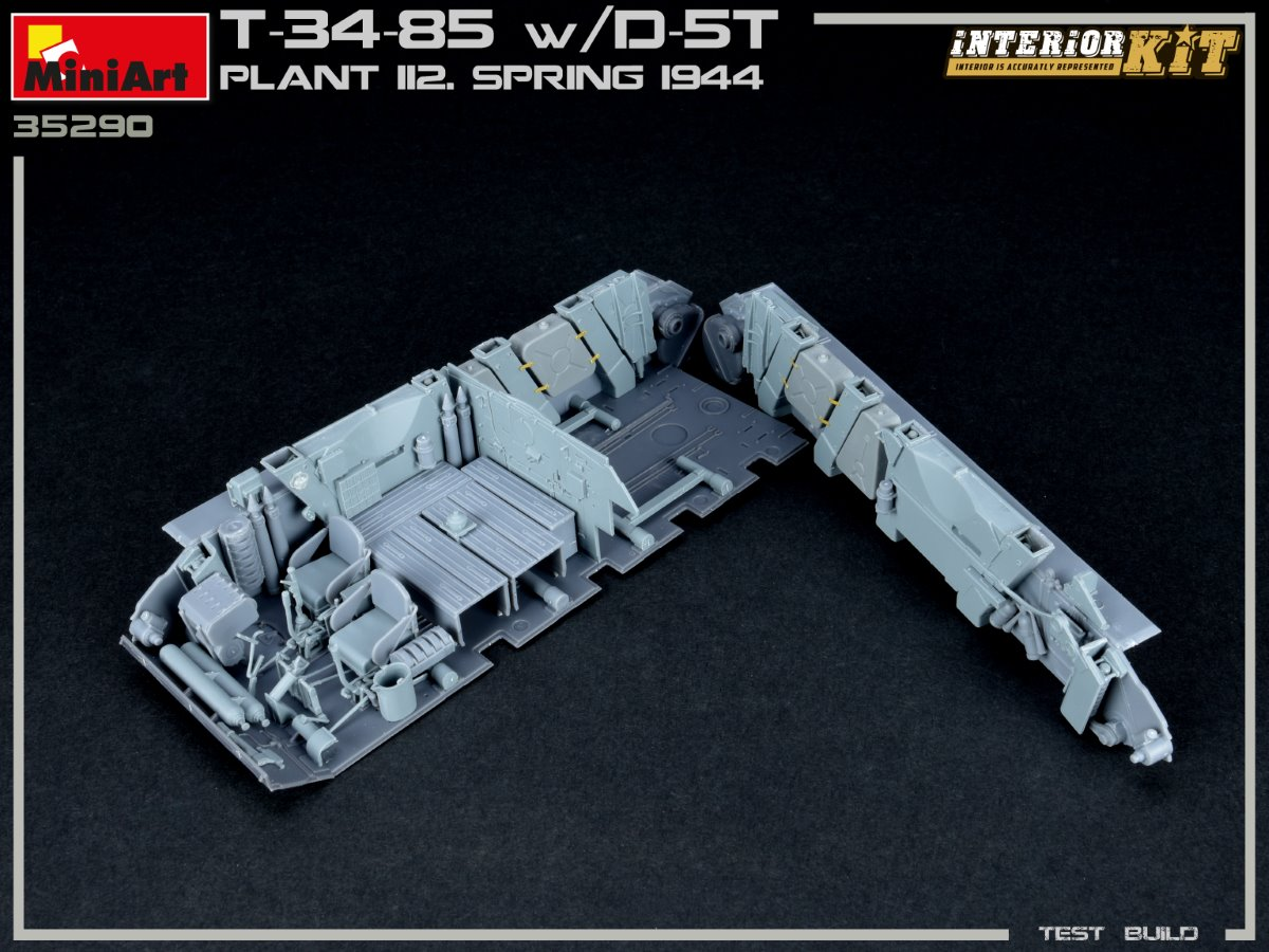 Build Up Part №1 of Kit: 35290 T-34/85 w/D-5T. PLANT 112. SPRING 1944. INTERIOR KIT