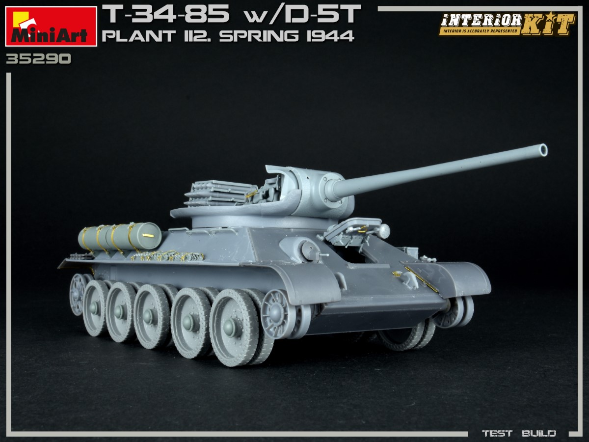 Build Up (Part №3) of Kit: 35290 T-34/85 w/D-5T. PLANT 112. SPRING 1944. INTERIOR KIT