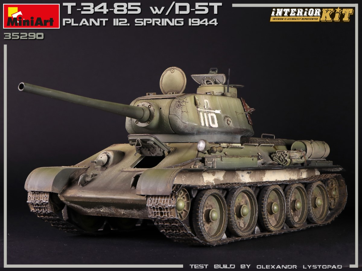 New Photos of Kit: 35290 T-34/85 w/D-5T. PLANT 112. SPRING 1944. INTERIOR KIT