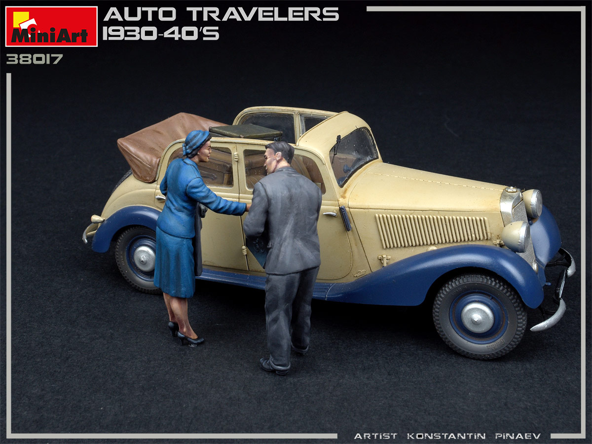 MINIART 38017 AUTO TRAVELERS 1930-40S 4 Figures 1/35 scale