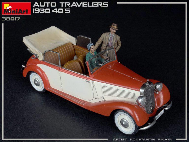 38017 Auto Reisende 1930-40er