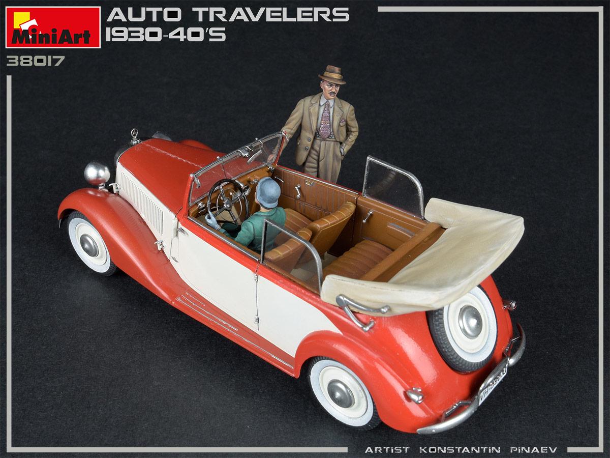 1:35 Auto Travelers 1930-40s - 4 figures