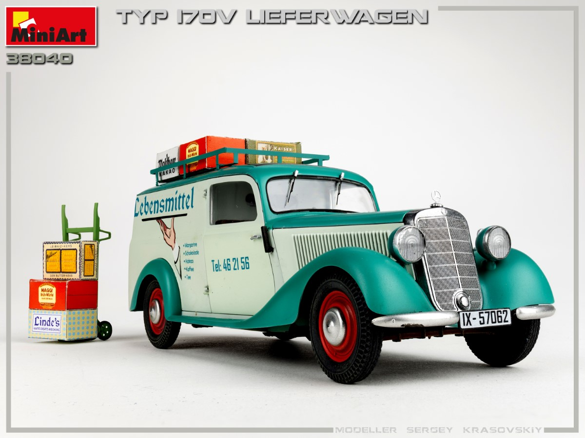 New Photos of Kit: 38040 TYP 170V LIEFERWAGEN