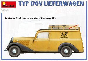 Side views 38040 Typ 170V Lieferwagen 送货小卡车