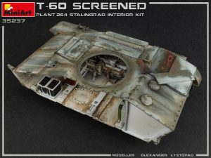 35237 T-60 SCREENED (PLANT NO.264 STALINGRAD) INTERIOR KIT + Olexandr Lystopad
