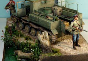 35052 Ya-12 SOVIET ARTILLERY TRACTOR + Stanislaw Jablonski