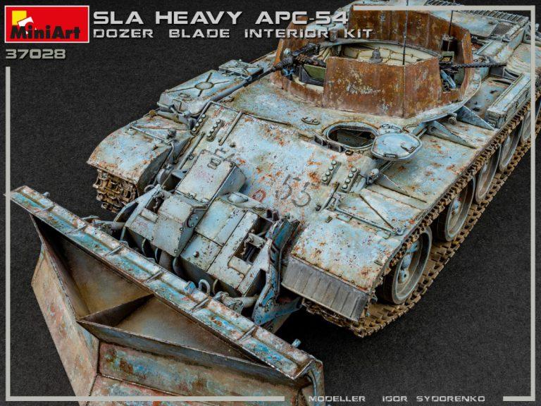 37028 SLA APC T-54 ドーザ刃装置付インテリアキット(内部再現)