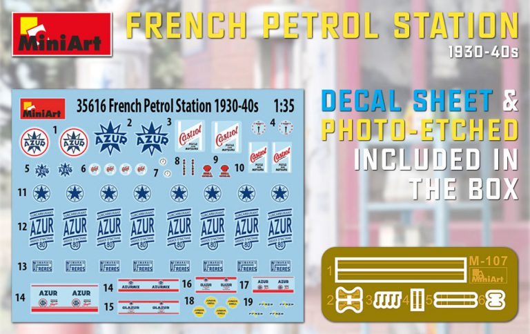 35616 FRENCH PETROL STATION 1930-40S