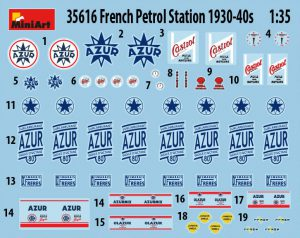 Content box 35616 FRENCH PETROL STATION 1930-40S