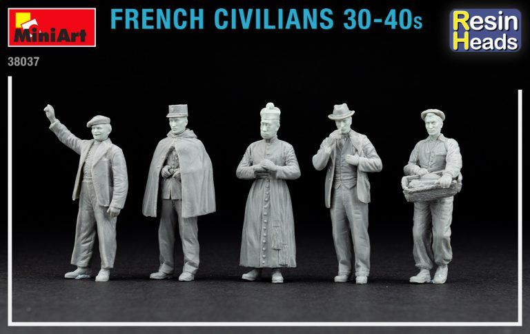 38037 FRENCH CIVILIANS '30-'40s. RESIN HEADS