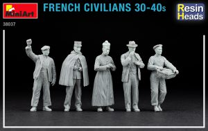 Photos 38037 FRENCH CIVILIANS '30-'40s. RESIN HEADS