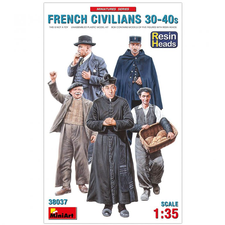 FRENCH CIVILIANS '30-'40s. RESIN HEADS