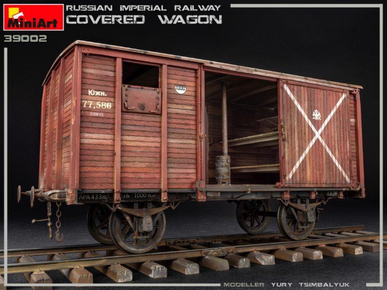 39002 RUSSIAN IMPERIAL RAILWAY COVERED WAGON