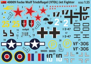 Content box 40009 FOCKE WULF TRIEBFLUGEL VTOL JET FIGHTER