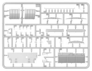 Content box 37028 SLA APC T-54 ドーザ刃装置付インテリアキット(内部再現)