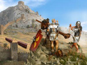 16007 ROMAN LEGIONARY II CENTURY A.D. + Valery Vershinin