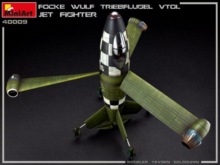 40009 FOCKE WULF TRIEBFLUGEL VTOL JET FIGHTER