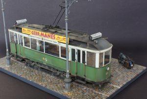 38009 EUROPEAN TRAMCAR (StraBenbahn Triebwagen 641) w/CREW & PASSENGERS + Dmitry Yektenev