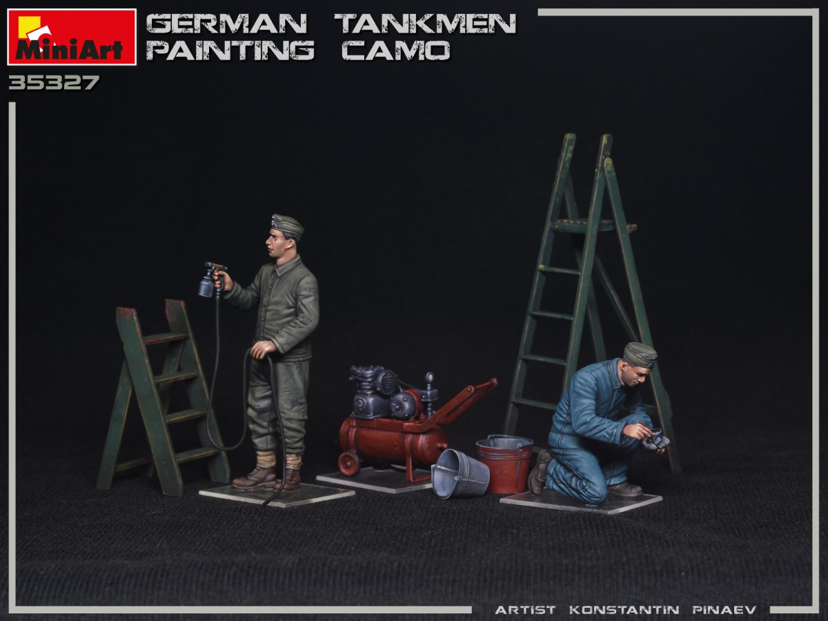 New Photos of Kit: 35327 GERMAN TANKMEN CAMO PAINTING