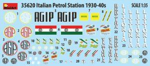 Content box 35620 ITALIAN PETROL STATION 1930-40s