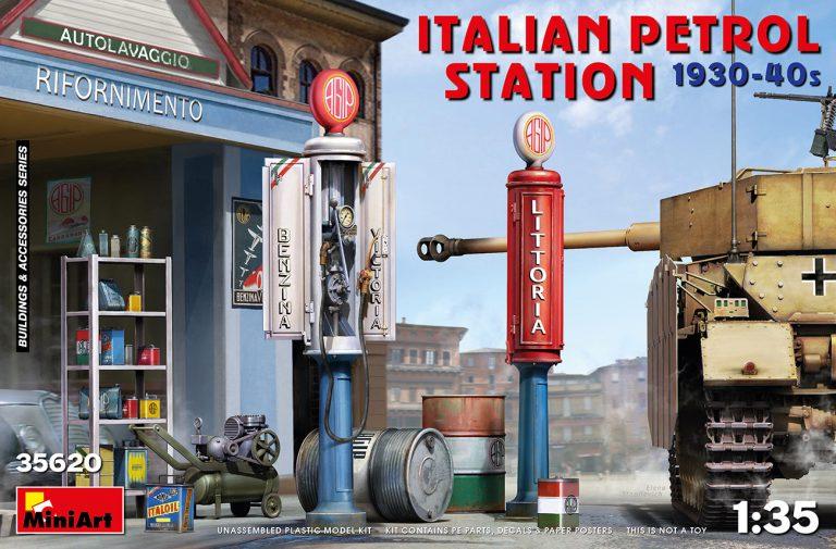 ITALIAN PETROL STATION 1930-40s