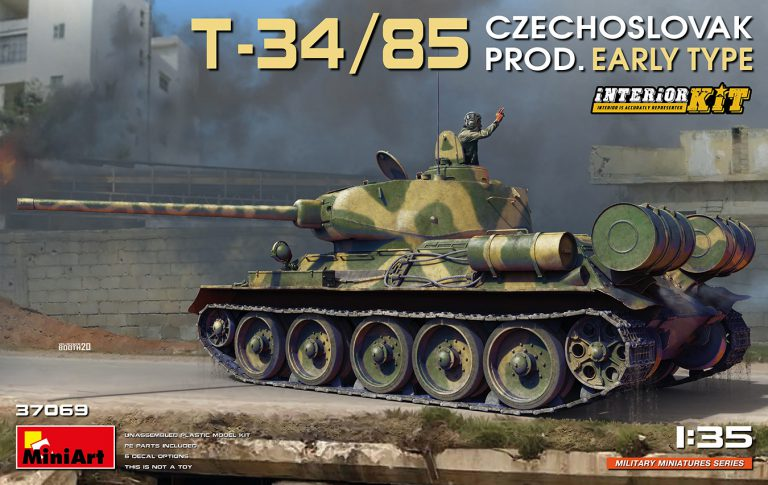 T-34/85 CZECHOSLOVAK PROD. EARLY TYPE. INTERIOR KIT