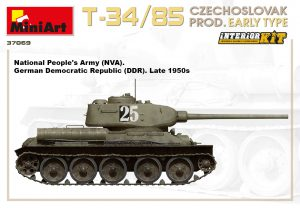 Side views 37069 T-34/85 CZECHOSLOVAK PROD. EARLY TYPE. INTERIOR KIT