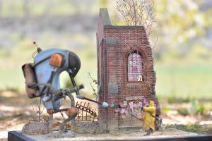 36030 DIORAMA w/RUINED CHURCH + Maboc Diorama