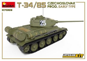 3D renders 37069 T-34/85 CZECHOSLOVAK PROD. EARLY TYPE. INTERIOR KIT