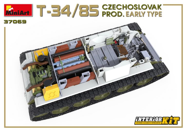 37069 T-34/85 CZECHOSLOVAK PROD. EARLY TYPE. INTERIOR KIT