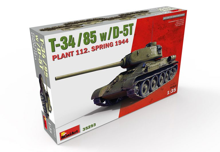 35293 T-34/85 w/D-5T PLANT 112. SPRING 1944