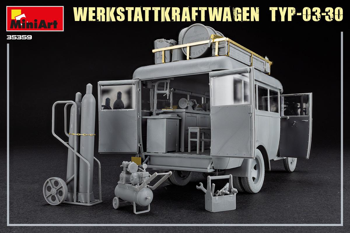 Build Up of Kit: 35359 WERKSTATTKRAFTWAGEN TYP-03-30