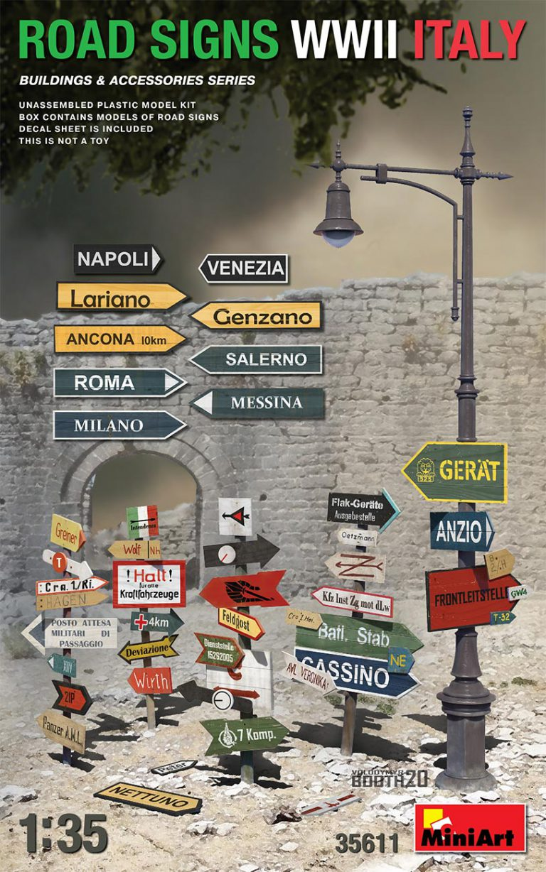 35611 Strassenschilder WWII Italien