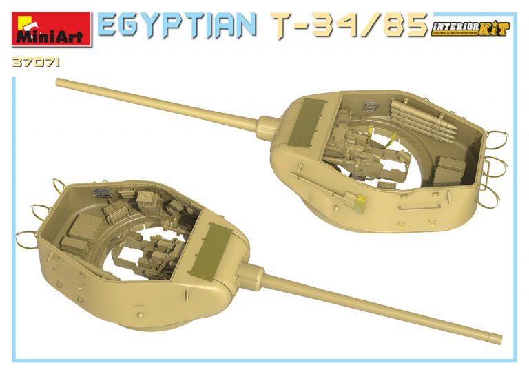 37071 EGYPTIAN T-34/85. INTERIOR KIT