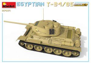 3D renders 37071 エジプト軍 T-34/85フルインテリア(内部再現)