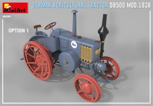 3D renders 38024 GERMAN AGRICULTURAL TRACTOR D8500 MOD. 1938