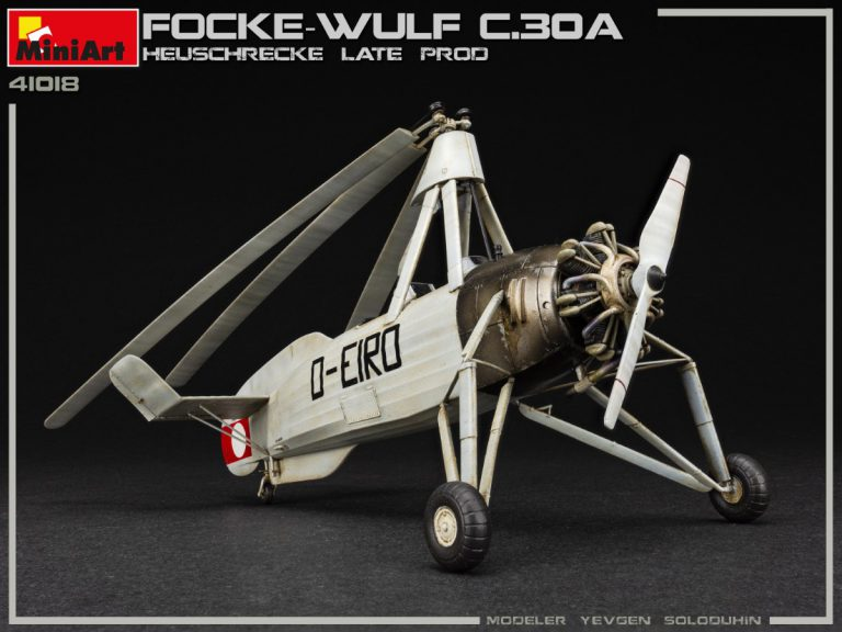"""41018 Разведывательный Автожир Focke Wulf FW C.30A """"Heuschrecke"""" Позднего Производства"""