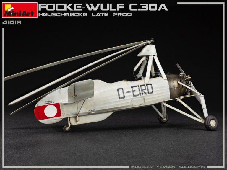 41018 FOCKE-WULF FW C.30A HEUSCHRECKE. Späte Produktion