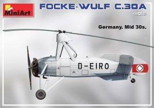 Side views 41018 FOCKE-WULF FW C.30A HEUSCHRECKE. Späte Produktion