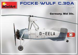 """Side views 41018 Разведывательный Автожир Focke Wulf FW C.30A """"Heuschrecke"""" Позднего Производства"""