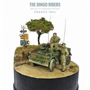 35077 DINGO Mk.III BRITISH SCOUT CAR w/CREW + 35121 BRITISH TANK CREW. WINTER UNIFORM + Garrie Gastonny