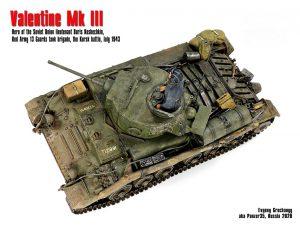 35100 Pz.Kpfw. Mk.III 749(e) VALENTINE III w/CREW + Evgeny Grechany