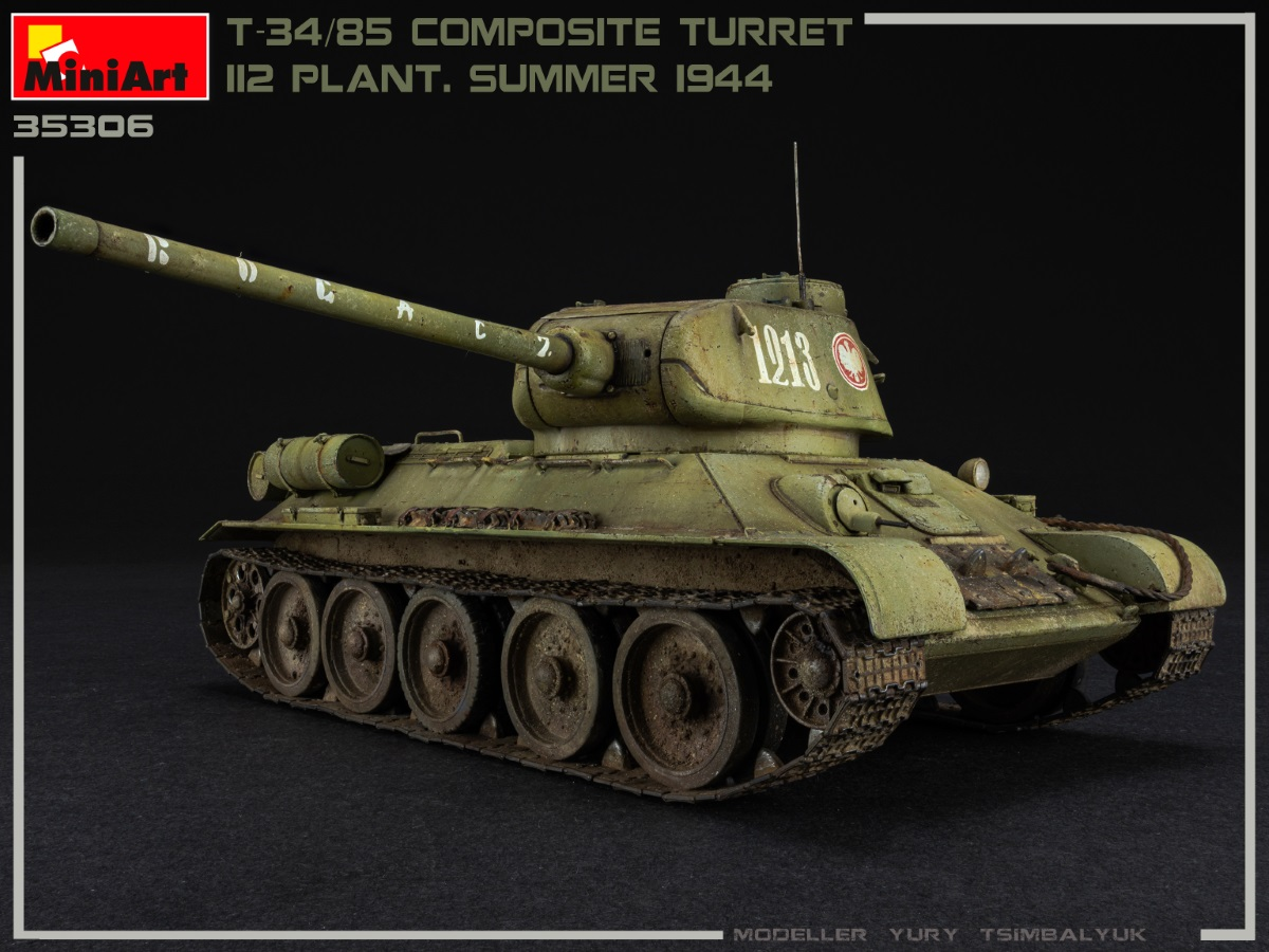 New Photos of Kit: 35306 T-34/85 COMPOSITE TURRET. 112 PLANT. SUMMER 1944