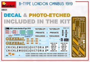 Content box 38031 B-TYPE Лондонский Омнибус 1919