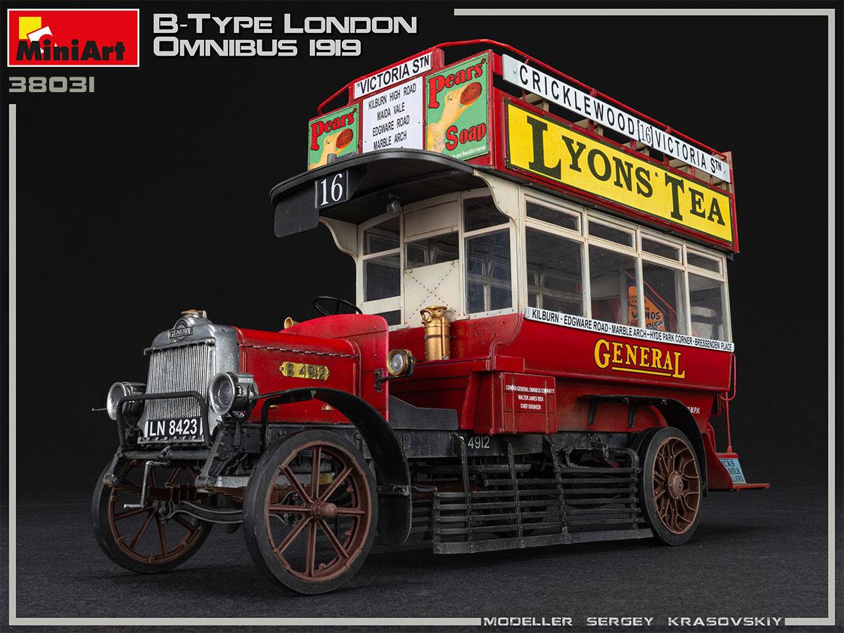 New Photos of Kit: 38031 B-TYPE LONDON OMNIBUS 1919