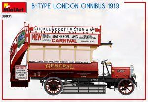 Side views 38031 B-TYPE LONDON OMNIBUS 1919