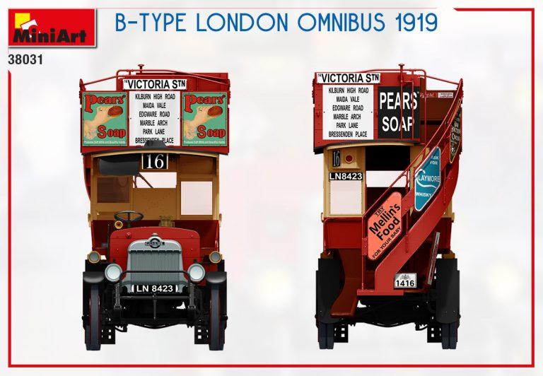 38031 B-TYPE LONDON OMNIBUS 1919
