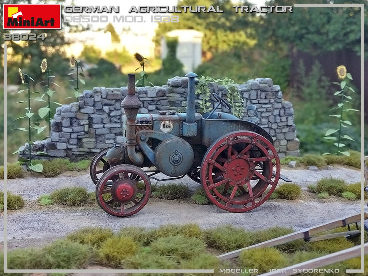New Photos of Kit: 38024 GERMAN AGRICULTURAL TRACTOR D8500 MOD. 1938