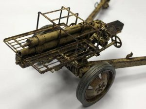 35269 GERMAN ROCKET LAUNCHER with 28cm WK Spr & 32cm WK Flamm + Vin Po