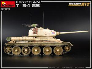 Photos 37071 エジプト軍 T-34/85フルインテリア(内部再現)